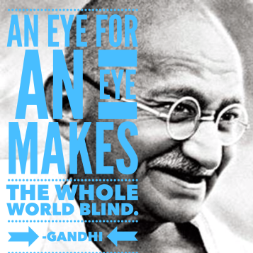 gandhi eye for eye
