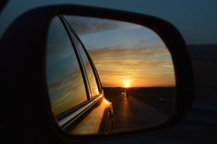 driving sun mirror