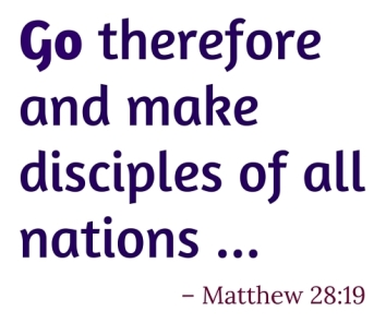 go therefore and make disciples of all nations essay Go ye therefore, and teach all nations, baptizing them in the name of the father,  and of the son, and of the holy ghost: holman christian standard bible.