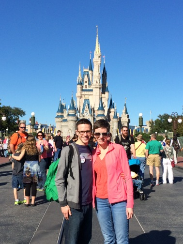 Me and my wife Sarah at Magic Kingdom